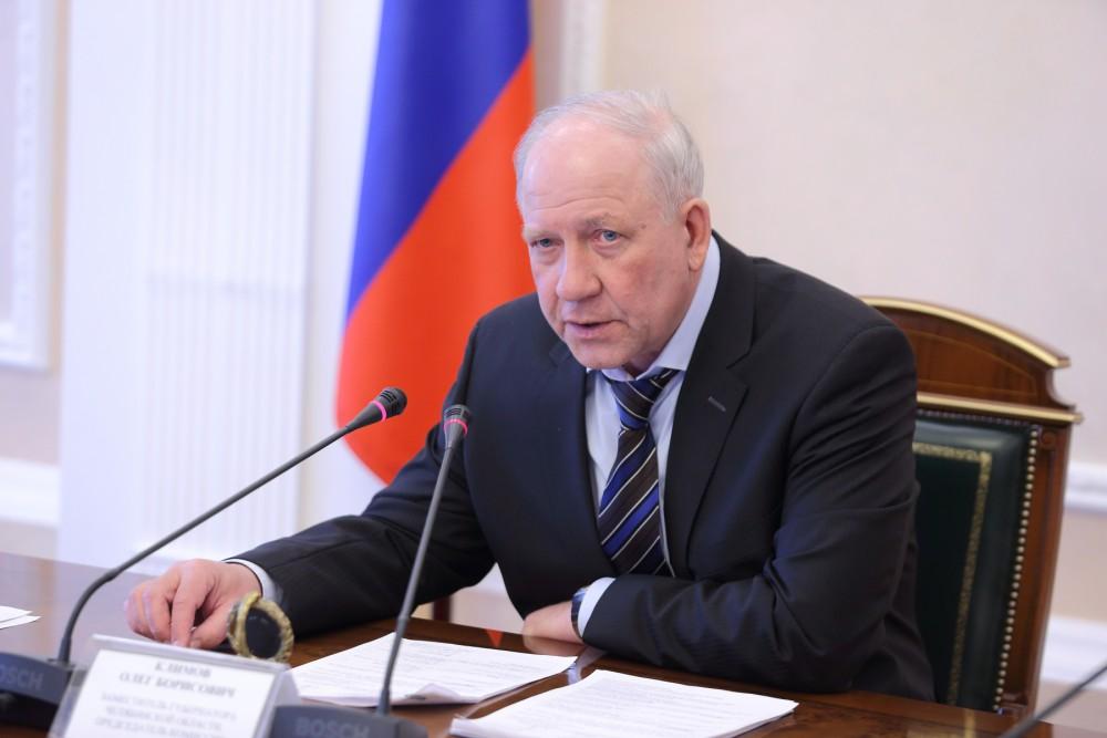 Об этом доложил вице-губернатор Олег Климов на аппаратном совещании у главы региона с замами и ми