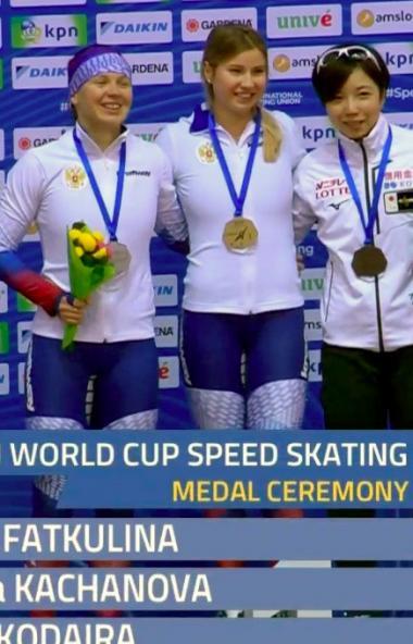 В Минске (Республика Беларусь) стартовал новый международный сезон конькобежцев. На первом этапе
