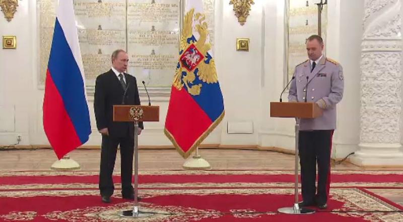 На церемонии Президент обозначил приоритетные задачи, стоящие перед командным сост