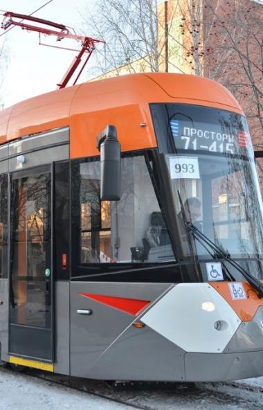 В Челябинск едет трамвай Госкорпорации Ростех. В столице Южного Урала низкопольный четырехосный к