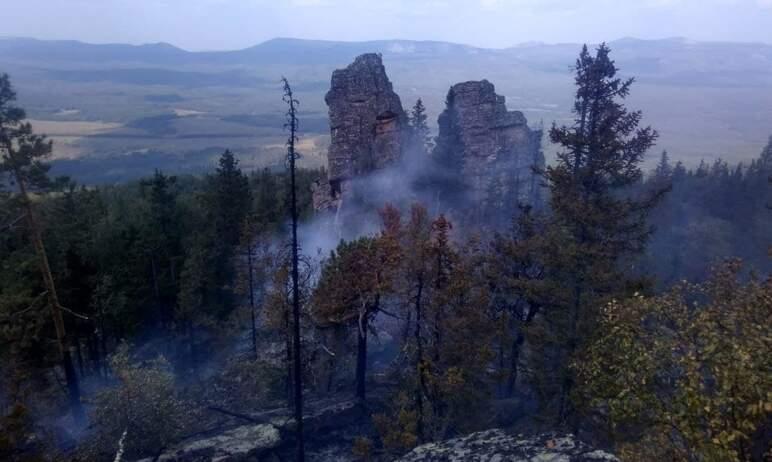 В Челябинской области произошел пожар в районе хребта Бакты, рядом с национальным парком «Зигальг