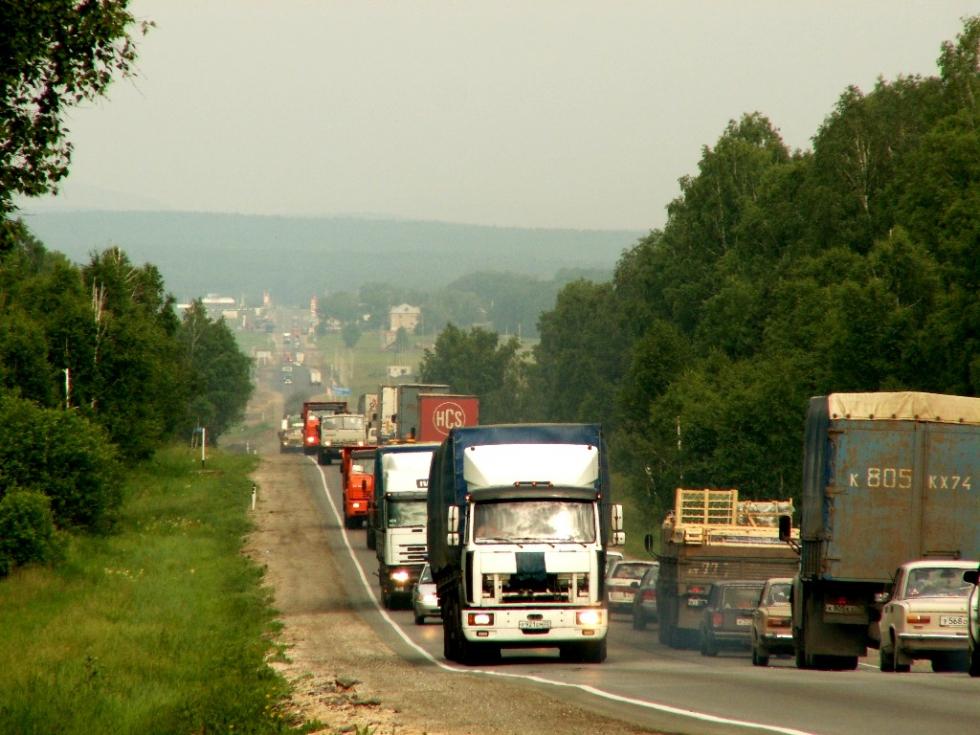 «Дорожно-транспортное происшествие с участие грузовика случилось на 1727 километре в 20 часов 40