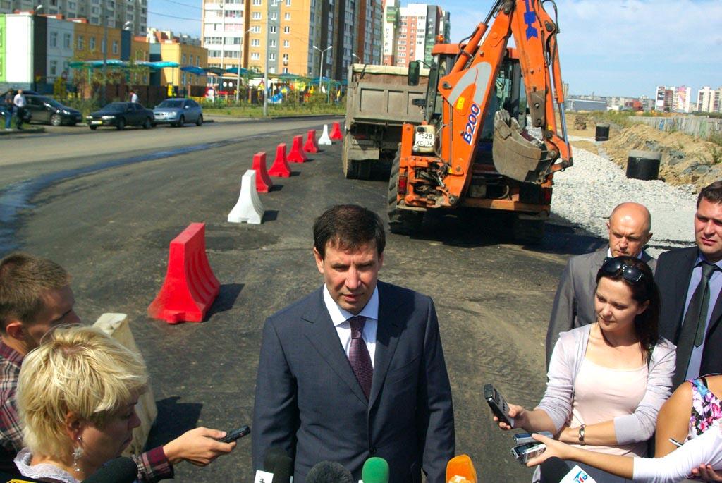 По команде губернатора Челябинской области Михаила Юревича были включены светофоры по направлению