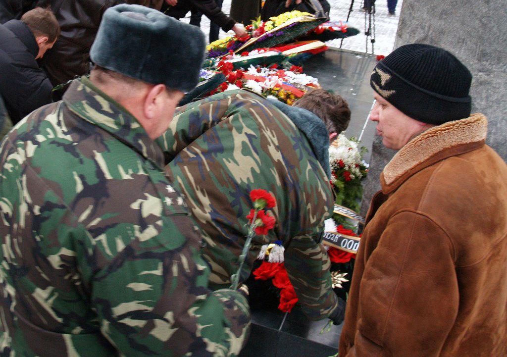 На торжественное мероприятие, посвященное годовщине вывода советских