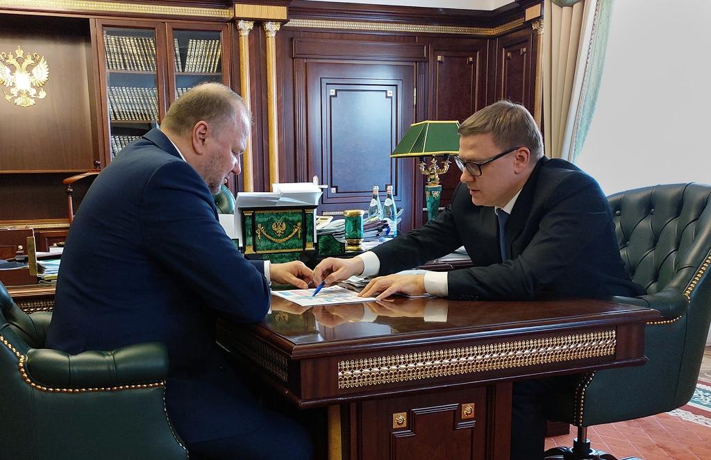 Полномочный представитель Президента РФ в Уральском федеральном округе Николай Цуканов и врио губ