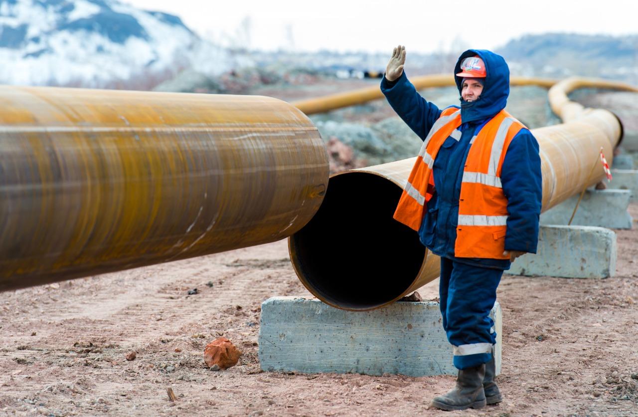 ООО «Промрекультивация» начало прокладку трубопровода для транспортирования закладочного материал