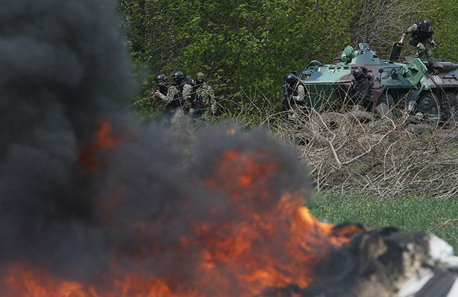 «Ополченцы атаковали блокпост нацгвардии между Краматорском иСлавянском. Для этого использовали