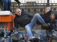 Сотрудники полиции задержали нескольких участников несанкционированной акции у здания телецентра