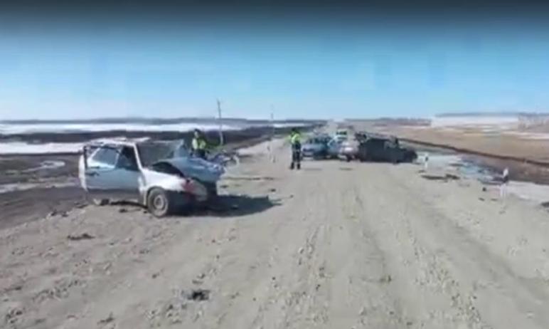 В Уйском районе Челябинской области 41-летняя женщина, управляя машиной ВАЗ, устроила лобовое сто