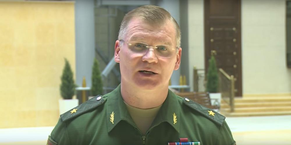 По словам Игоря Конашенкова, медицинский городок был развернут буквально за несколько часов до тр