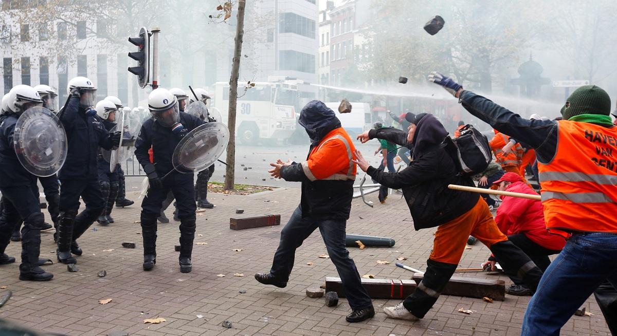 На этой неделе в ведущих странах Европы прошли массовые акции протеста и гражданского неповиновен