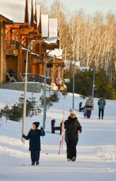 Зимние каникулы выдались очень теплыми, большинство жителей Челябинской области стремились провес