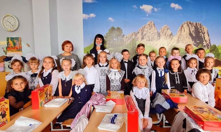 В честь дня знаний, горнолыжный курорт «Солнечная долина» поздравил сельских первоклассников из Л
