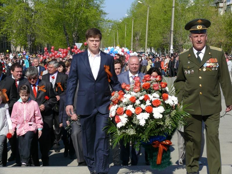 В этот торжественный день ветераны, представители трудовых коллективов и общественных организаций