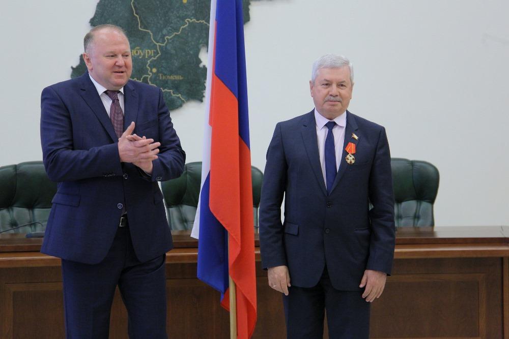 Председатель Законодательного собрания Челябинской области Владимир Мякуш удостоен государственно