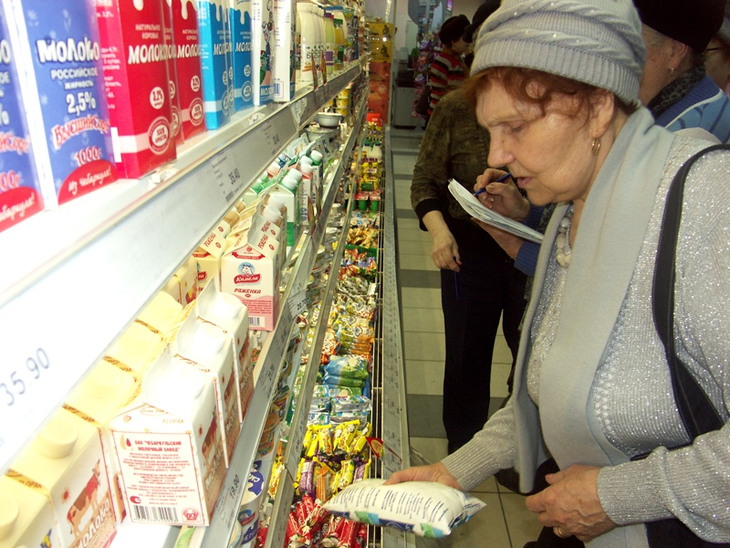 Администрация супермаркета приняла активистов проекта радушно. По словам коммерческого директора