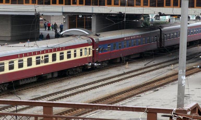 В Челябинской области на железнодорожном переезде произошло столкновение маневрового состава и гр