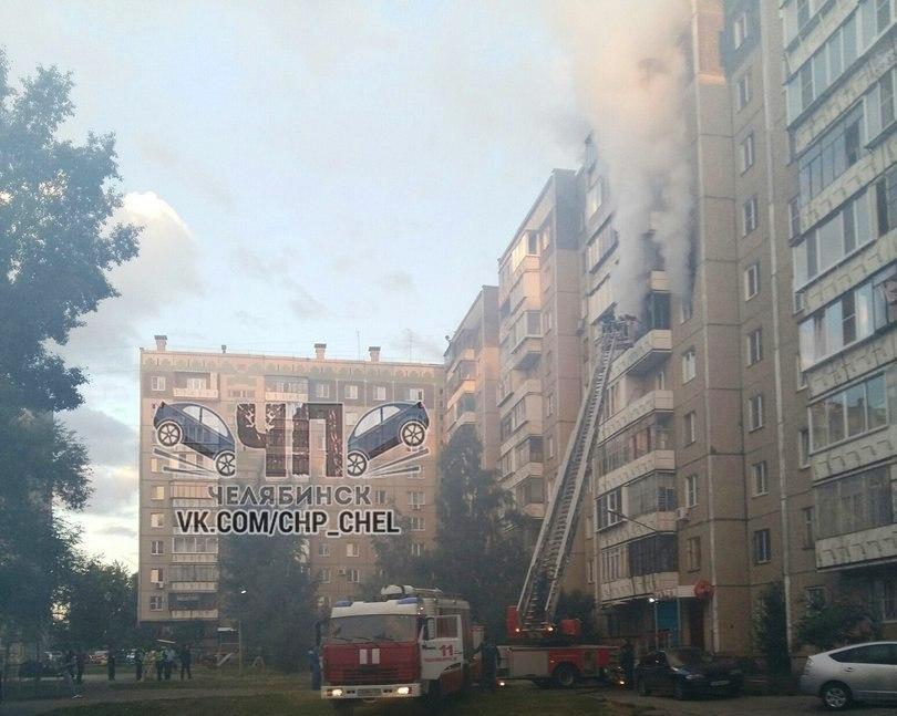 Пожар произошел в жилом доме на улице 250 лет Челябинску. В половине шестого утра загорелась квар