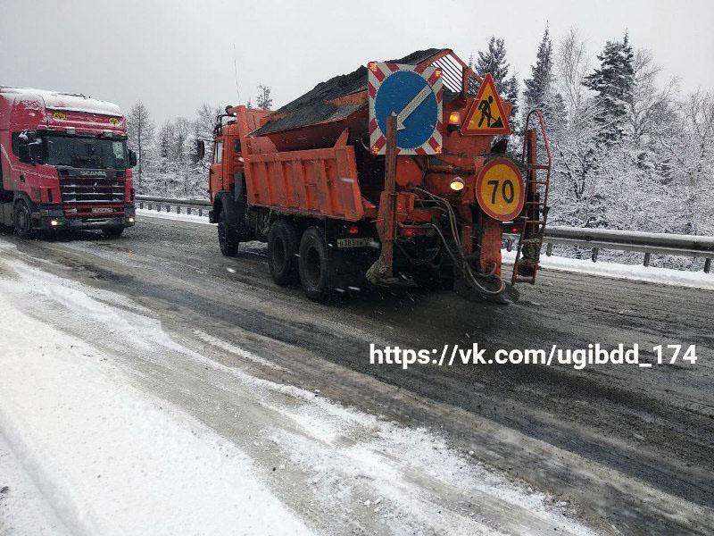 Снегопады, прошедшие сегодня, 24 апреля, утром в горнозаводской зоне Челябинской области, затрудн