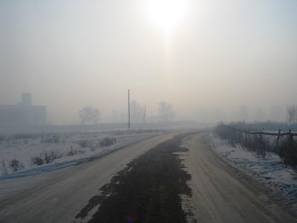 «Дорога от Коркино до поселка Роза полностью в тумане, почти ничего не видно. Если раньше такое б