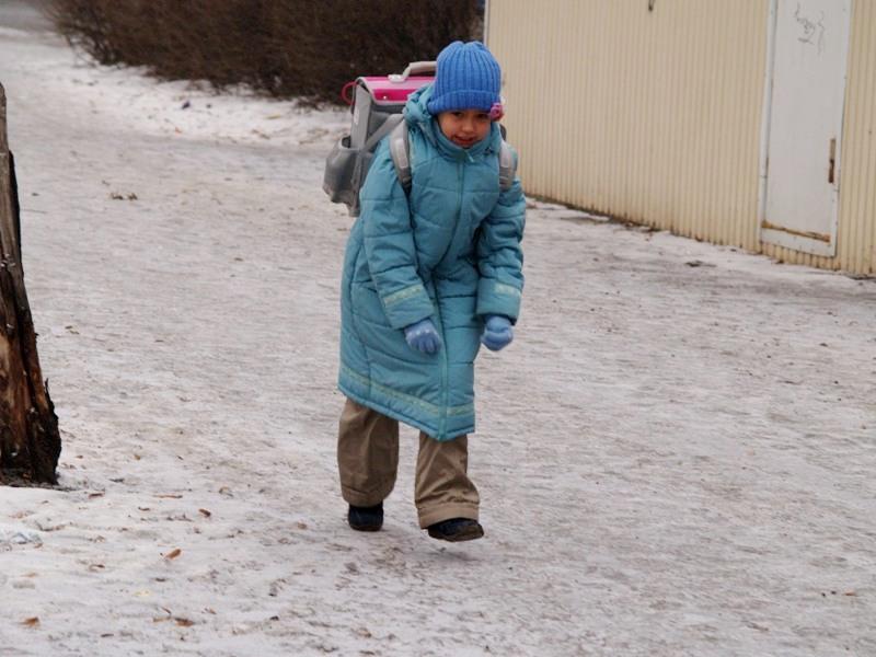 Челябинские школьники сегодня утром, 24 декабря, несмотря на морозы, отправились на занятия. Урок