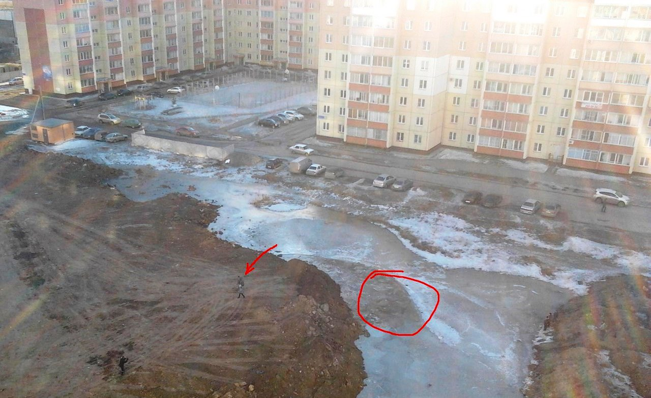 Чрезвычайное происшествие произошло 21 марта. «На одной из чуриловских луж ребенок провалился под