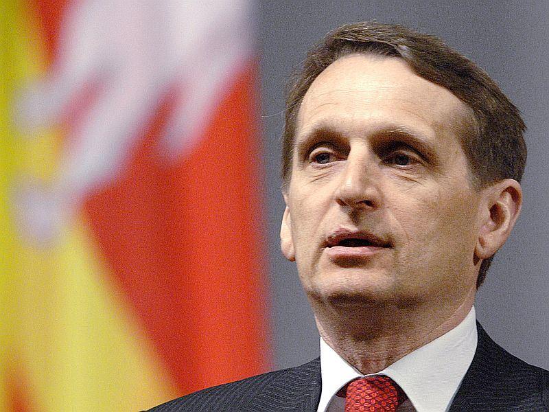 Руководитель Администрации президента России Сергей Нарышкин считает, что вместе с должностью гос