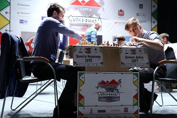 В Сатке (Челябинская область) проходят суперфиналы чемпионатов России по шахматам среди мужчин и