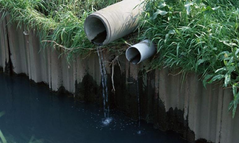 В Челябинской области городской пруд в Верхнем Уфалее загрязняется канализационными стоками.