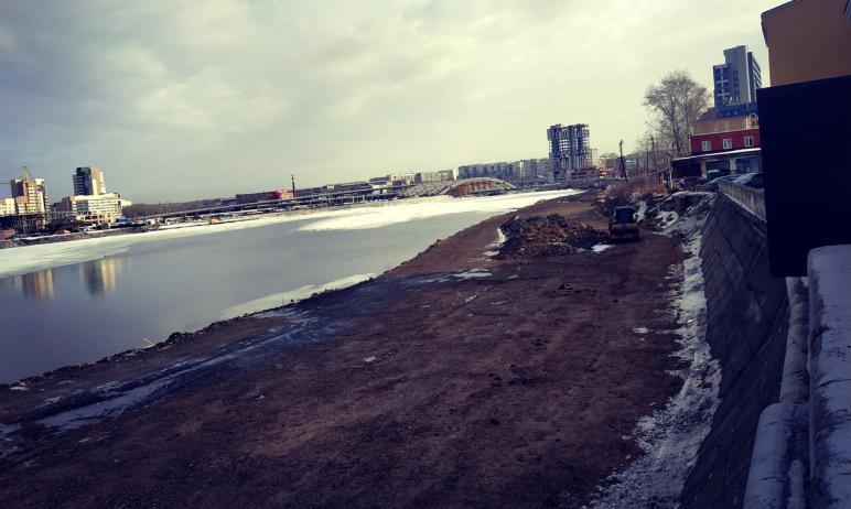 За срыв сроков благоустройства набережной реки Миасс в Челябинске к подрядной организации - ООО «