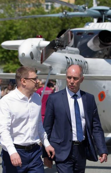 Новая вертолетная площадка для санитарной авиации - в Районной больнице села Кунашак - начала раб