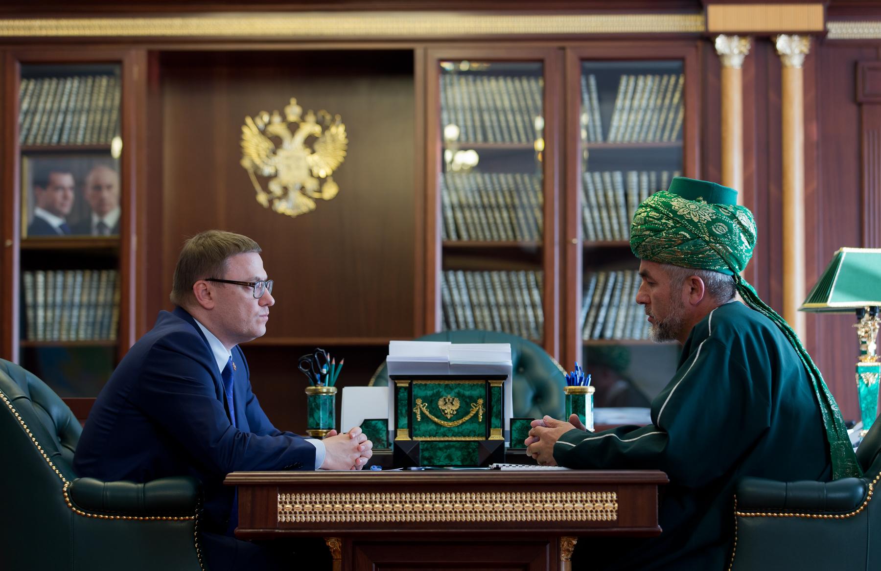 Глава Челябинской области Алексей Текслер провел рабочую встречу с муфтием Челябинской и Курганск