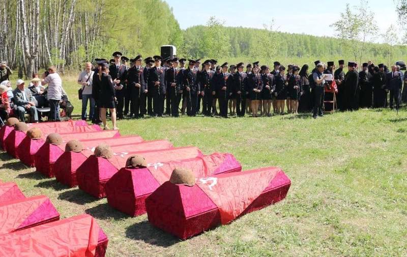 В Орловской области перезахоронили останки южноуральца-красноармейца Ивана Сорокина. Родственника