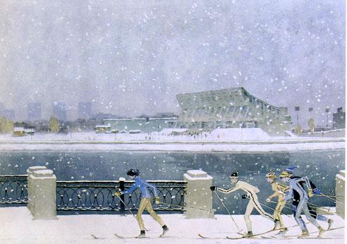 Картина эта была написана не про Челябинск, но решил ее вспомнить – в начале зимы в нашем уральск