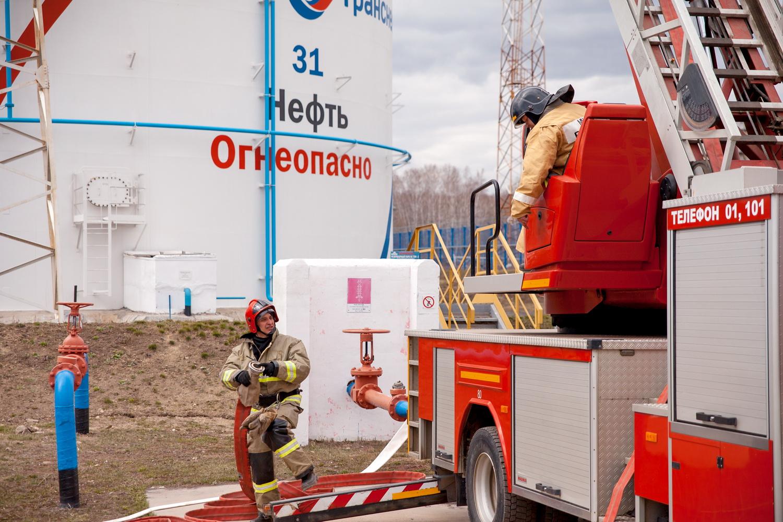 Пожарно-тактические учения в Челябинском нефтепроводном управлении (НУ) АО «Транснефть – Урал» пр