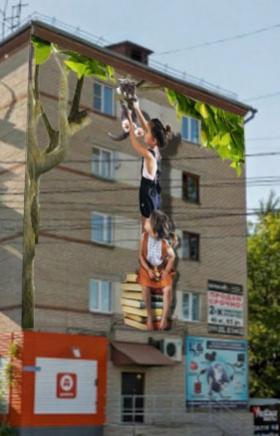 Объединение художников Graffiti Russia приступило к оформлению фасадов по гостевому маршруту горо