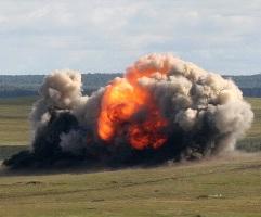 Как рассказывают очевидцы, во второй половине дня были слышны звуки взрыва или как будто отдаленн