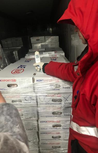 Из Челябинска в Китайскую Народную Республику отправилось 18,5 тонны ножек цыплят бройлеров замор