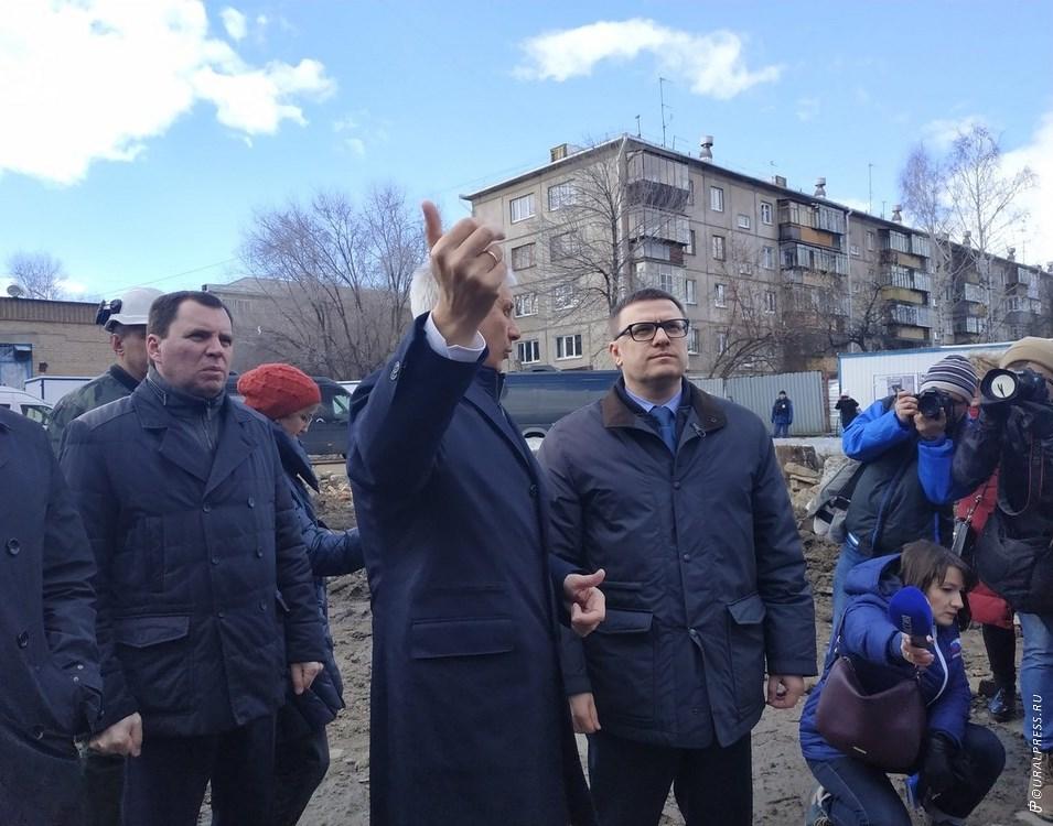 Временно исполняющий обязанности губернатора Челябинской области Алексей Текслер побывал на месте