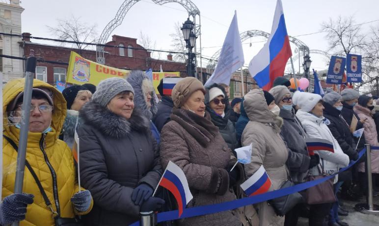 Челябинск сегодня, 18-го марта, вместе со всей Россией в седьмой раз встретил «Крымскую Весну».