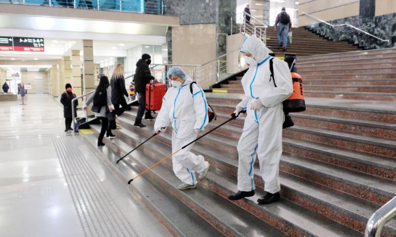 В целях профилактики распространения коронавирусной инфекции на вокзалах Южно-Уральской железной