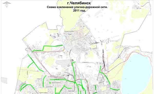 Озеленение планируется на части проспекта Ленина от улицы Кирова и до памятника Курчатову, на ули