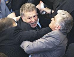 Свое мнение Жириновский готов был отстаивать в драке с депутатами от «Единой России», однако в от