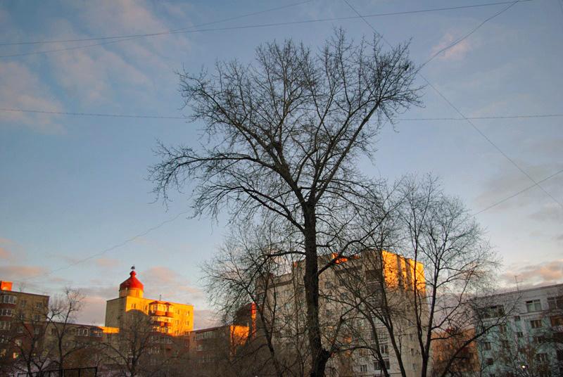 Утром в Челябинске было минус четыре градуса, в течение дня синоптики обещают минус 3-5 градусов,