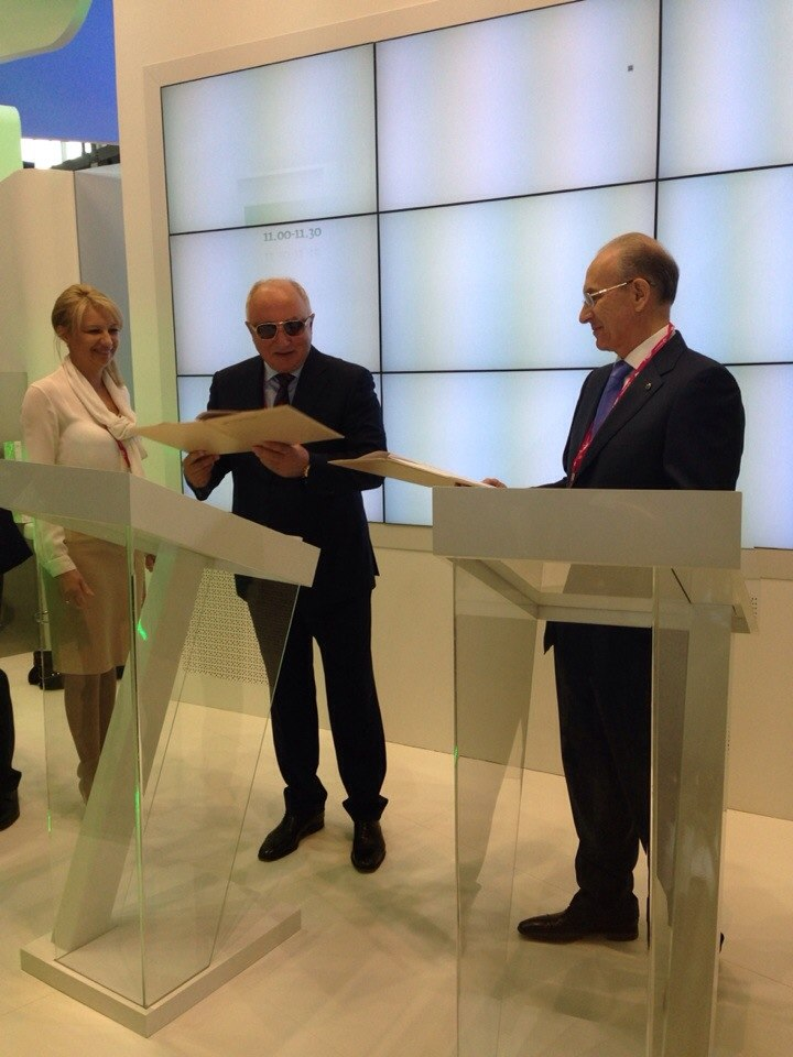 Соглашение между компаниями было подписано на площадке Сбербанка. Документ подписали председатель